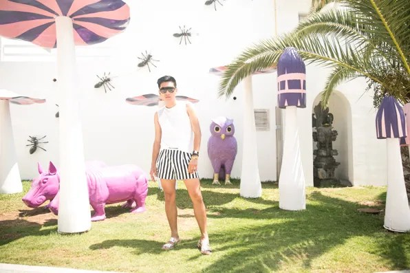 Bryanboy at Ushuaia Club hotel in Ibiza, Spain