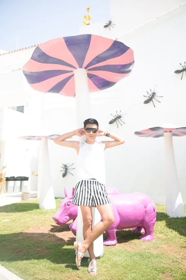 Bryanboy at Ushuaia Club, Ibiza