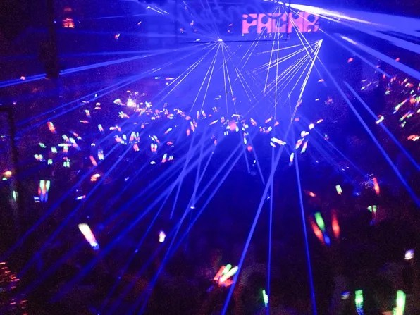 Laser lights at Pacha, Ibiza