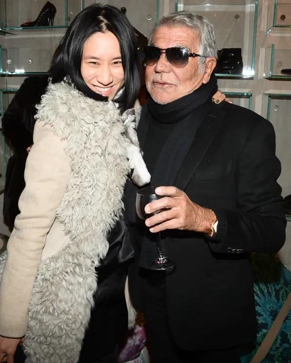 Eva Chen and Roberto Cavalli