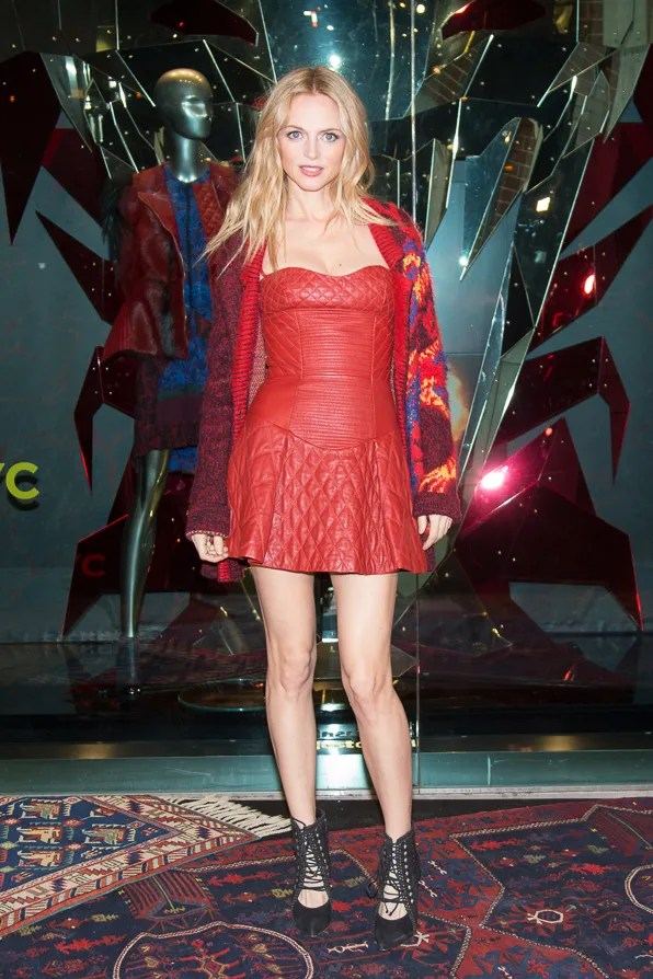 Heather Graham at Just Cavalli NYC Soho store opening