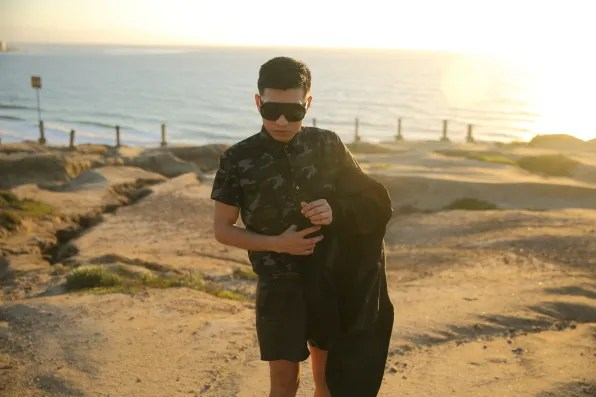 Bryanboy wearing a calf hair jacket by Kenneth Cole