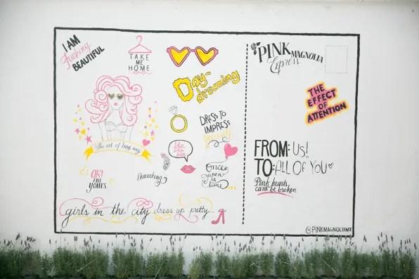 Pink Magnolia showroom wall