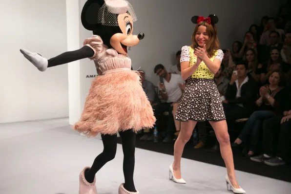 Minnie Mouse and Paola Wong at Pink Magnolia Runway show