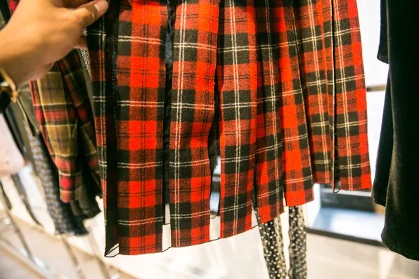 Plaid dress by Saint Laurent Paris