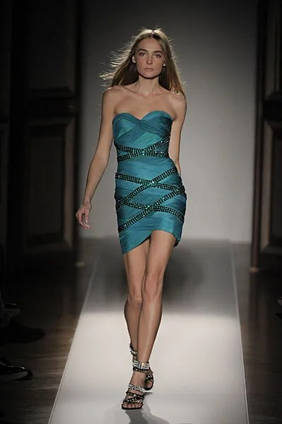 Balmain Spring Summer 2009 dress worn by Snejana Onopka