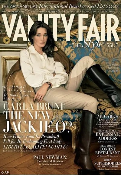Carla Bruni, Vanity Fair September 2008 Style Issue