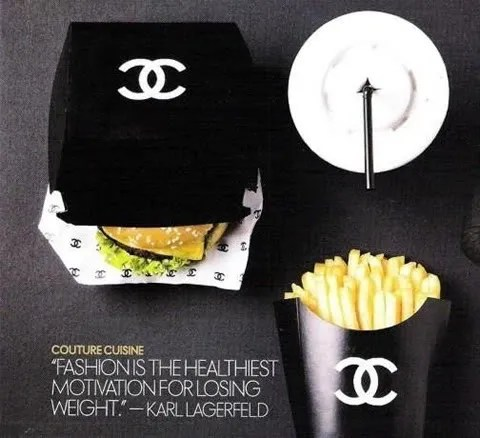 Karl Lagerfeld quote about weight.