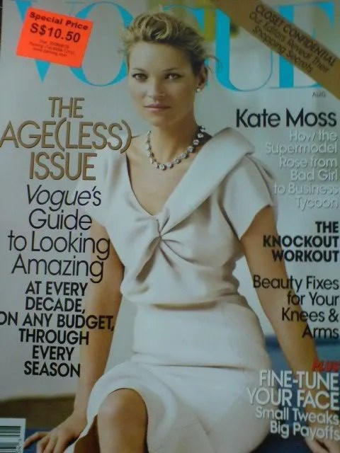 Kate Moss, Vogue USA cover, August 2008