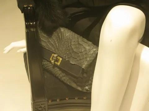 Lanvin python clutch bag