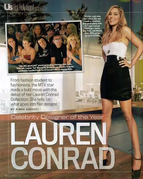 Lauren Conrad, Celebrity Designer of the Year, Us Weekly