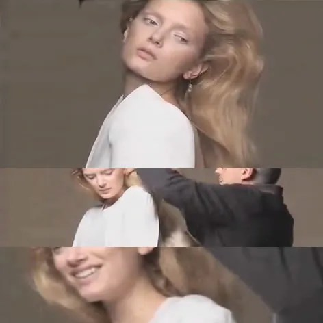 Lily Donaldson for V Magazine editorial shot by Nick Knight. Project of Showstudio.