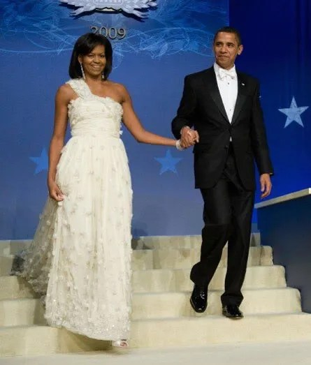 Michelle Obama's Inauguration Ball dress designed by Taiwanese-American designer Jason Wu.