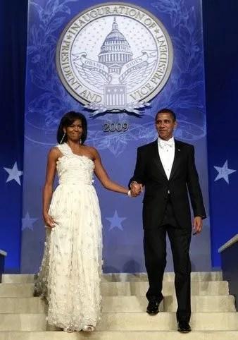 Michelle Obama's Inauguration ball dress designed by Jason Wu