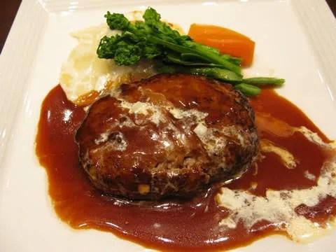 Hamburger steak lunch at Tokyo Midtown