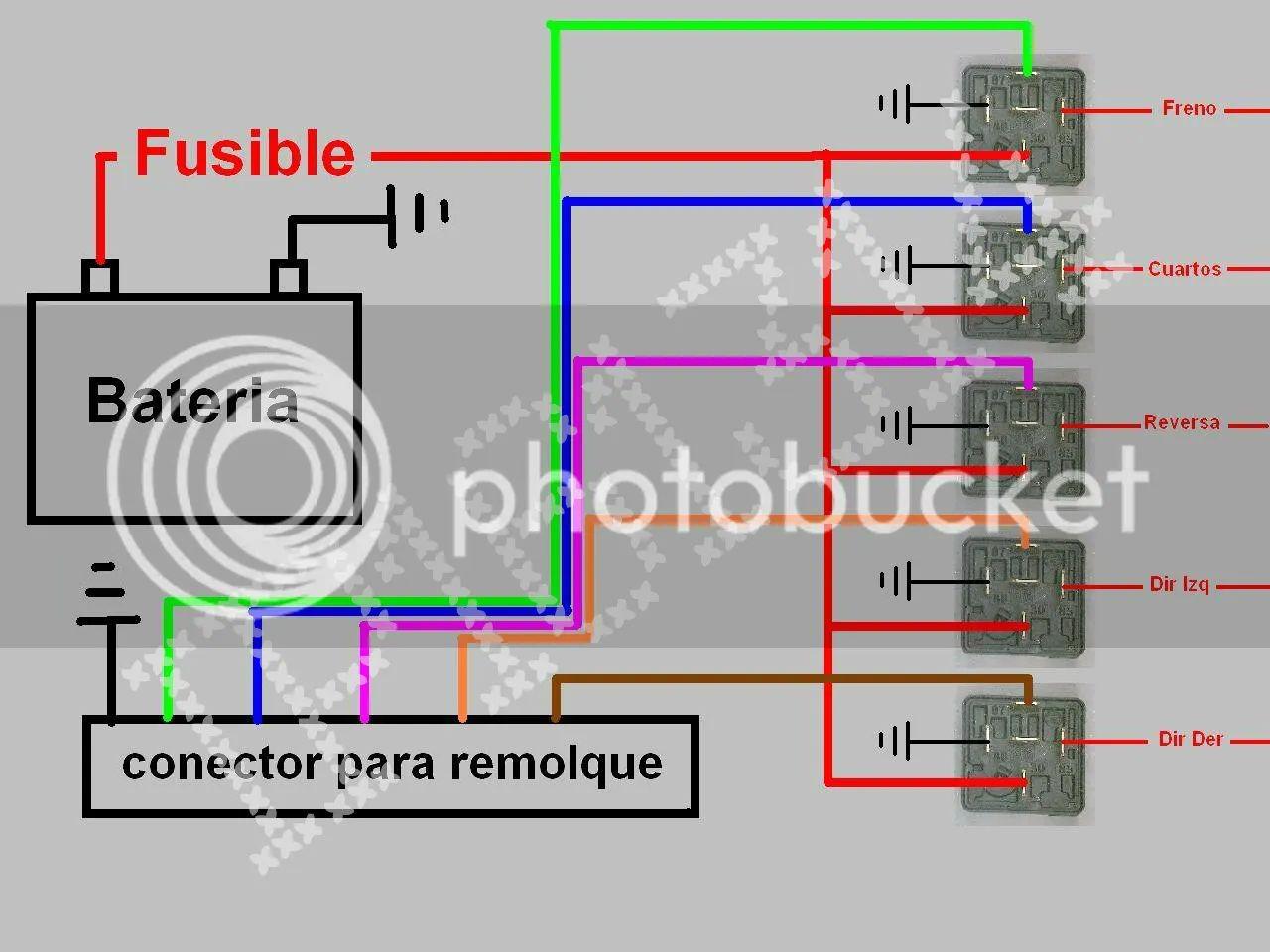 diagrama para cableado elctico de remoque