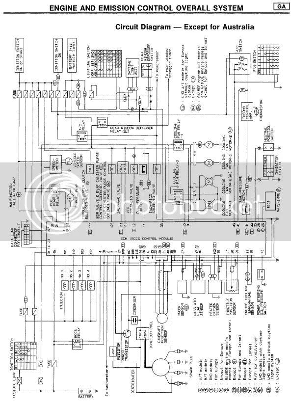 ga16 ecu wiring diagram