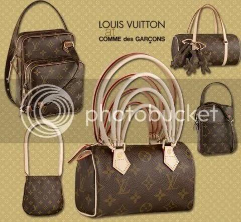 Louis Vuitton and Comme des Garcons Collaboration Bags