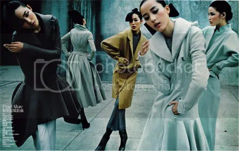 Vogue China December 2008: Coats Parade