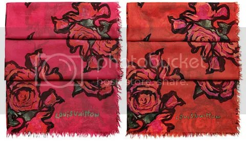 Louis Vuitton Roses Scarf