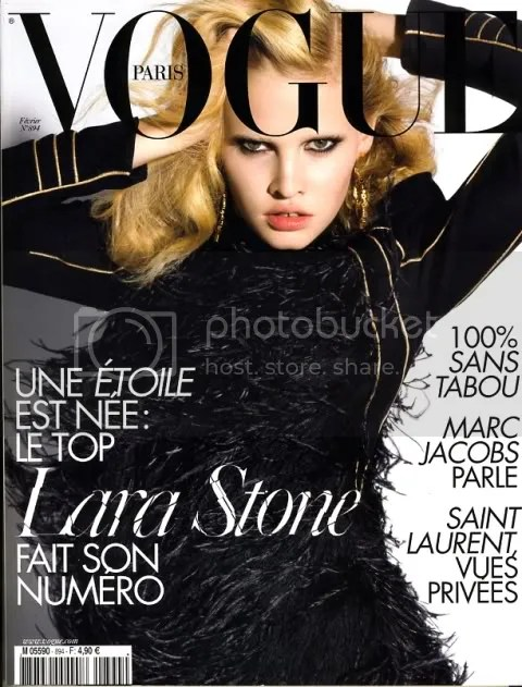 Vogue Paris February 2009: Lara Stone