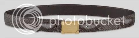 Louis Vuitton Pandora Python Belt