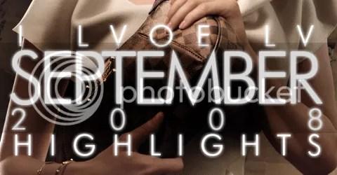 I LVOE LV: September 2008 Highlights