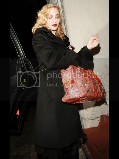 Madonna Leaves from Louis Vuitton Shoot