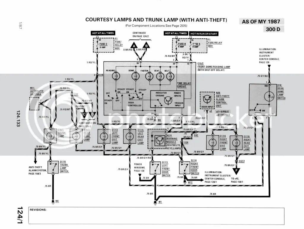 w124 interior light wiring diagram