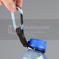 Water Bottle Holder Hook Belt Clip BLUE Aluminum Snap