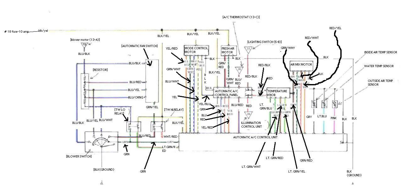 1989 honda civic wiring diagram schematic
