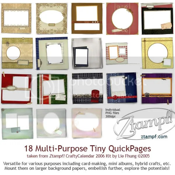 Ztampf! Tiny QuickPages Set 06