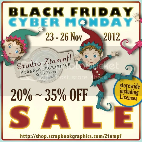BLACK FRIDAY & CYBER MONDAY @ Studio Ztampf!