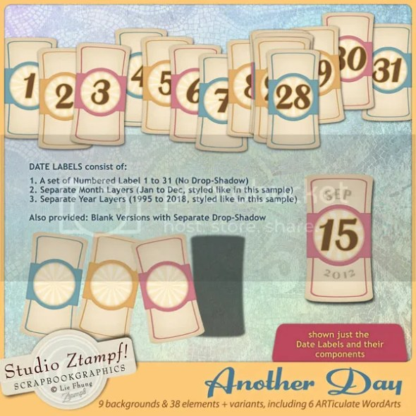 Another Day Date Label Set