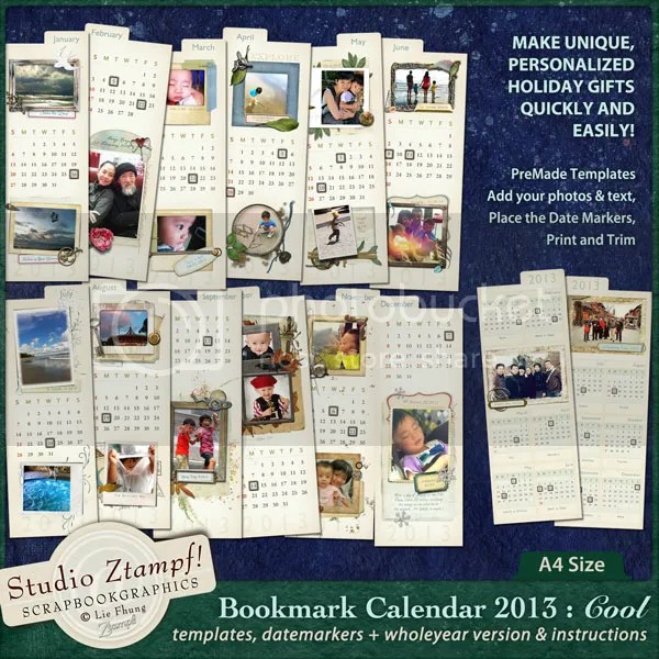 Ztampf! COOL Bookmark Calendar 2013 - A4