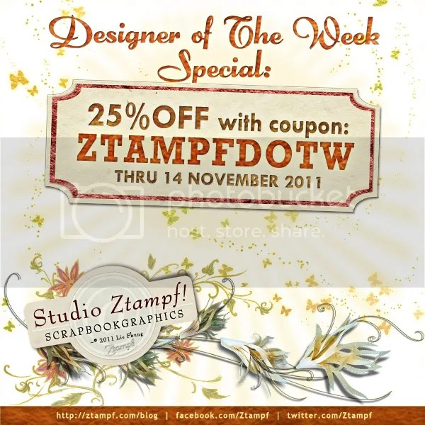 25% OFF Discount Coupon for Studio Ztampf! - ztampfdotw