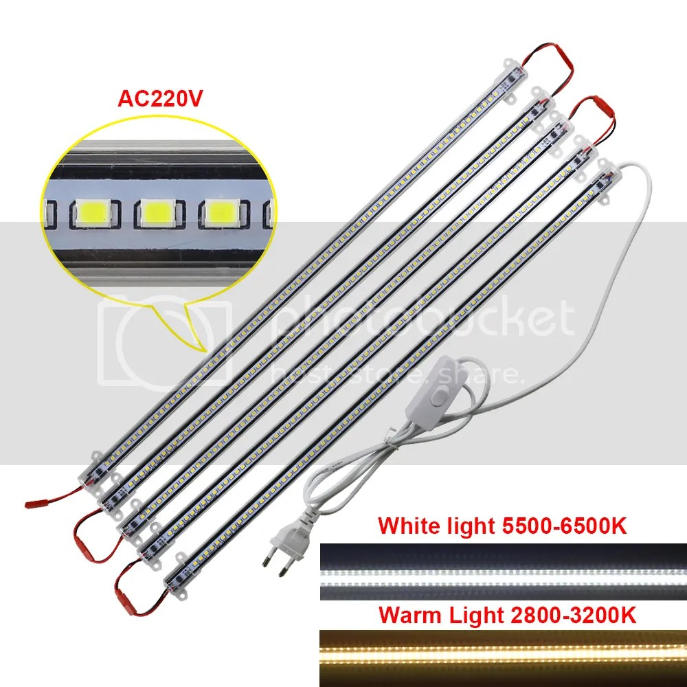 Led 220v Details About 5pcs 50cm Led Hard Rigid Strip Bar Light Cabinet Showcase Lighting Smd2835 220v