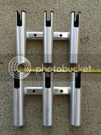 Taco Aluminum 3 Rod Holder Rack | Bloodydecks