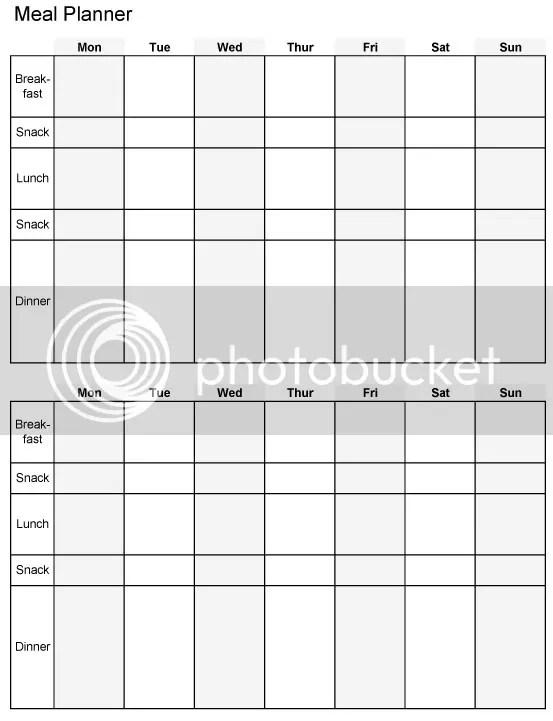 2 week meal plan template - Minimfagency - printable weekly meal plan