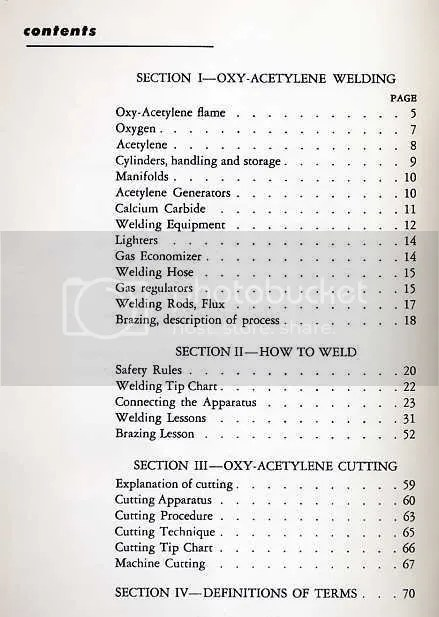 Book Reveiws Older, Out of Print, Historocal / Welding Charts and