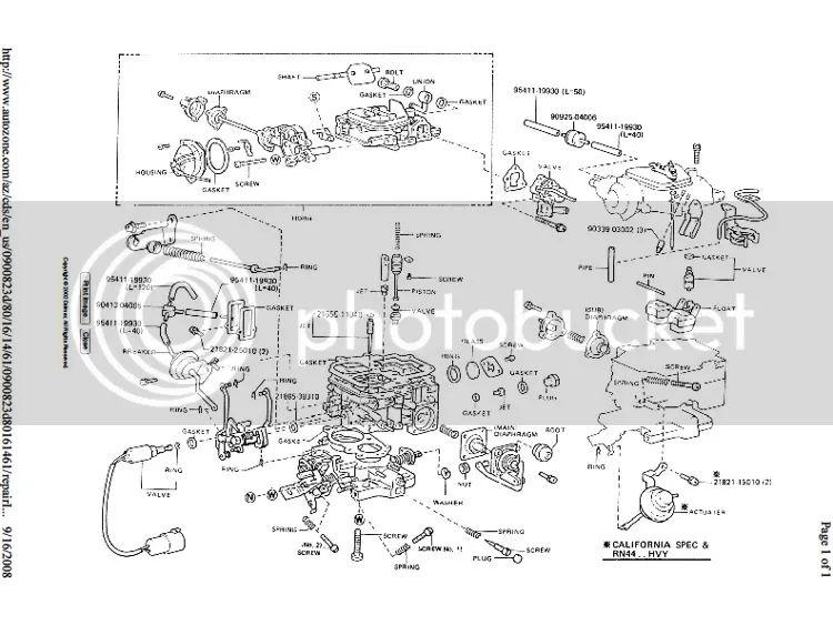1985 toyota pickup Motor diagram