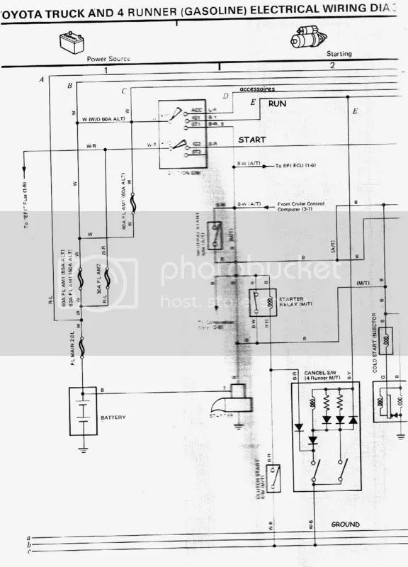 toyota 22re wiring diagram for starter