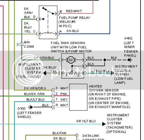 dodge dakota fuel gauge wiring diagram