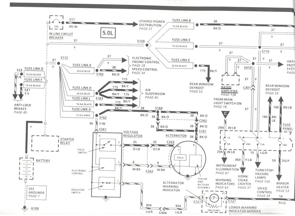 Diagram Of 98 Lincoln Continental Engine Wiring Diagram