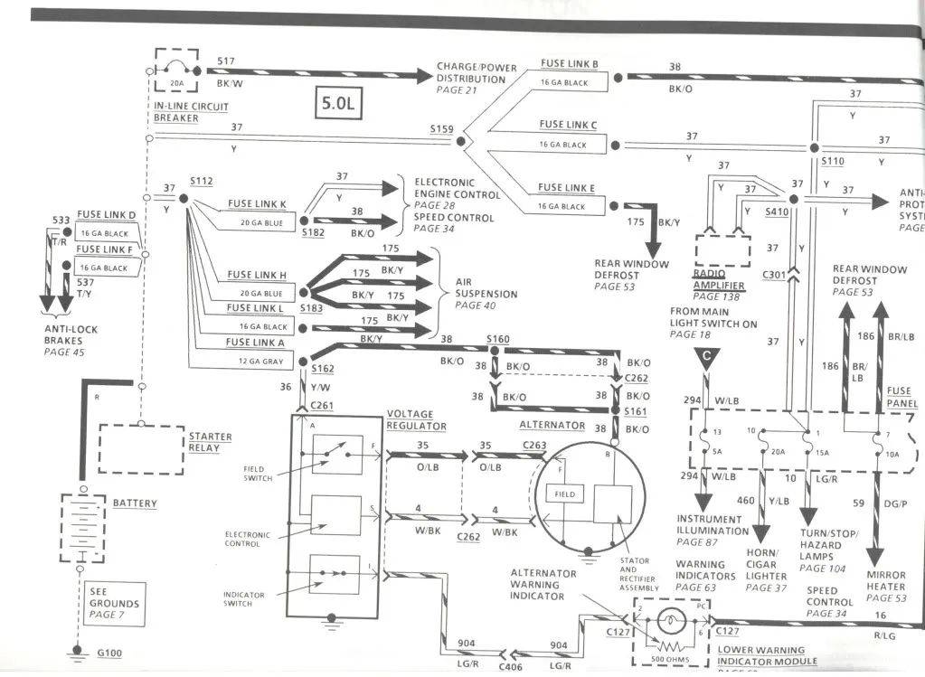 1989 lincoln mark vii wiring diagram