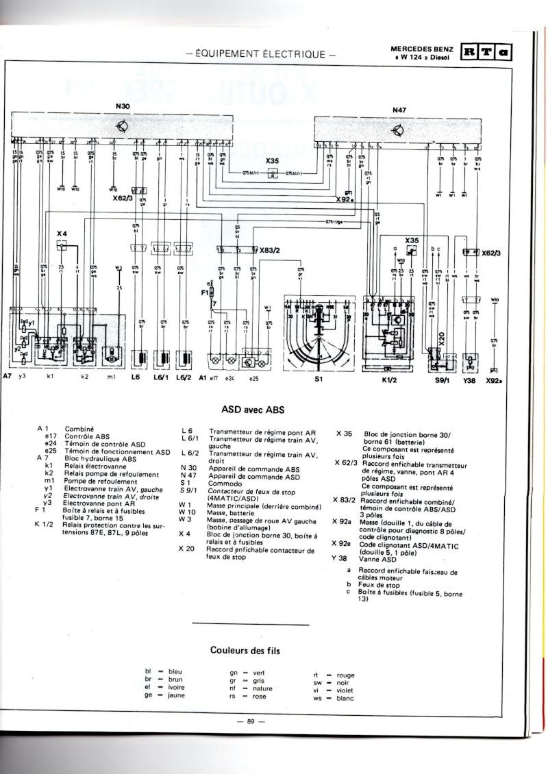 1977 mercedes 300d schema cablage