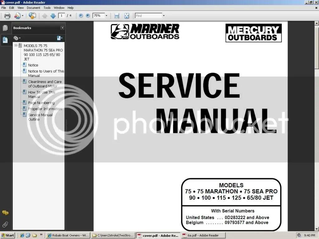 manual mercury optimax 135