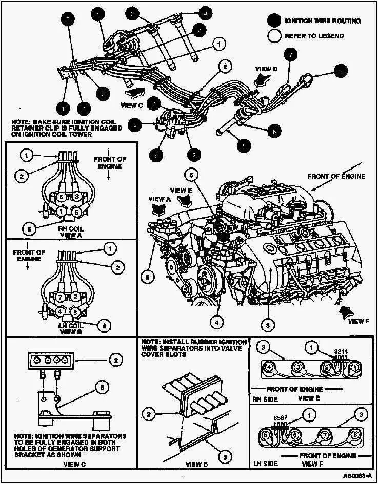 1998 mustang gt spark plug wire diagram