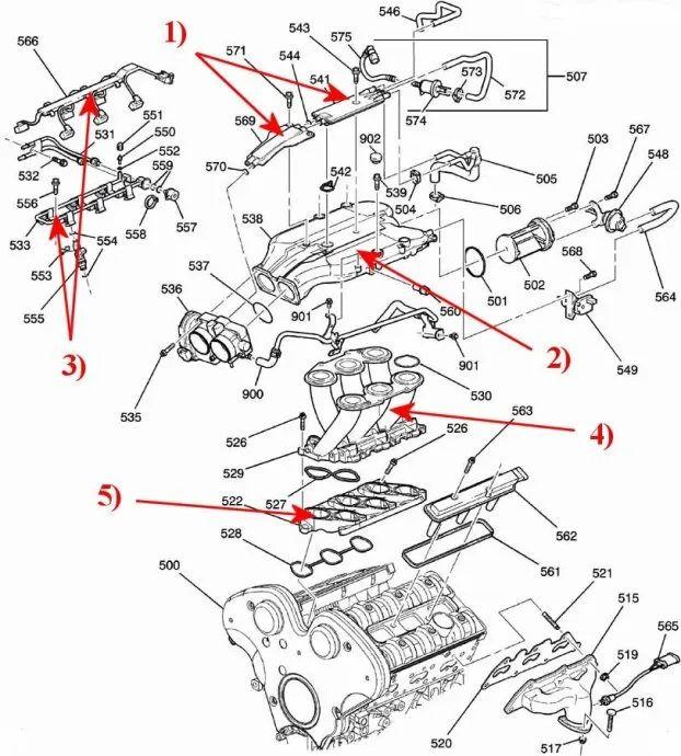 2003 cadillac cts 3.2 engine diagram