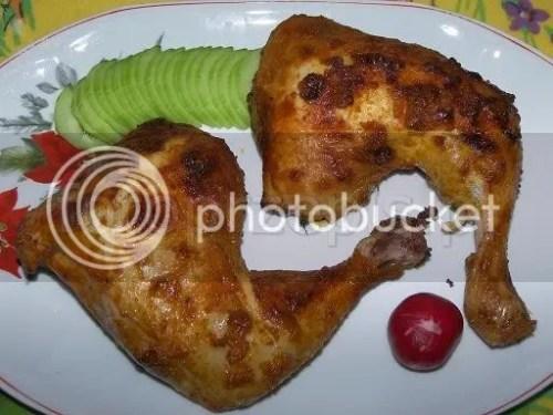 Pieczone udka z kurczaka w marynacie jogurtowej polska pieczone latwe kurczak i drob danie glowne codzienne  przepis foto